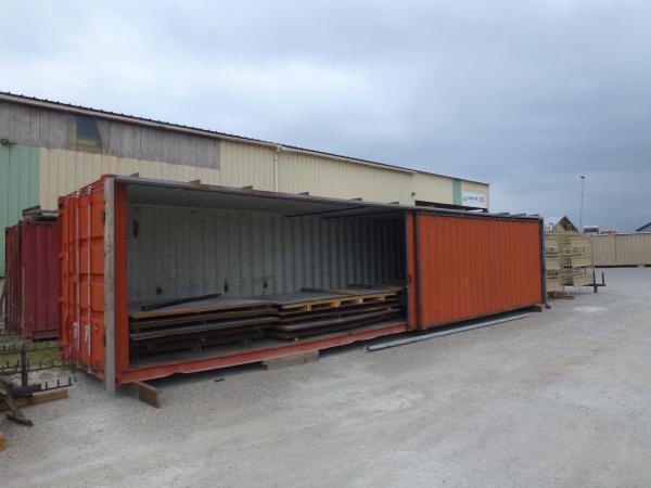 container de stockage avec ouverture coulissante lat rale. Black Bedroom Furniture Sets. Home Design Ideas